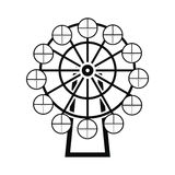 Ferris wheel black simple icon Stock Image