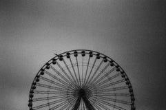 Ferris wheel in black white Stock Photos