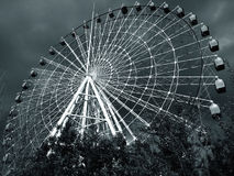 Ferris Wheel in black and white Royalty Free Stock Photography