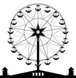 Ferris wheel. With a black and white background Stock Photos