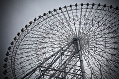 Ferris wheel. In black and white color Royalty Free Stock Photo