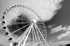 Ferris wheel in black and white Royalty Free Stock Image