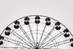 Ferris wheel, black and white photography Royalty Free Stock Image