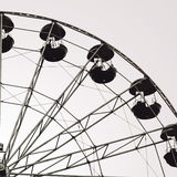 Ferris wheel, black and white photography Royalty Free Stock Photography