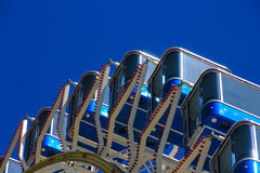 Ferris wheel blue sky Stock Images