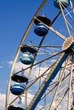 Ferris Wheel Blue Cars, Blue Sky White Clouds Royalty Free Stock Photography