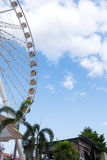 Ferris wheel, blue skies and clouds Royalty Free Stock Photos