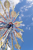 Ferris Wheel on a blue sky Royalty Free Stock Photos
