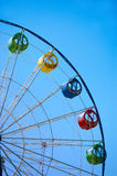Ferris wheel on blue sky Stock Image