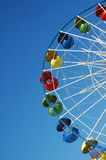 Ferris wheel on blue sky Royalty Free Stock Photography