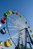 Ferris wheel on blue sky Royalty Free Stock Photo