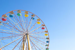 Ferris wheel with blue sky Stock Image