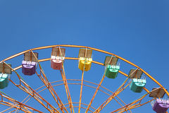 Ferris wheel and blue sky Stock Images