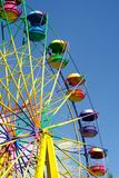 Ferris wheel on the blue sky Royalty Free Stock Images