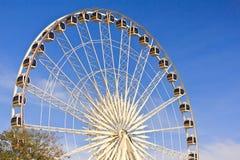 Ferris wheel in blue sky Royalty Free Stock Image
