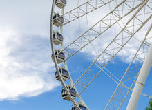 Ferris wheel and blue sky Royalty Free Stock Photo