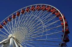 Ferris Wheel Blue Sky Royalty-vrije Stock Afbeelding