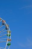Ferris wheel and blue sky Royalty Free Stock Photos