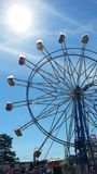 Ferris Wheel Blue Sky Immagini Stock