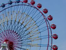 A Ferris wheel with blue sky background Royalty Free Stock Photography