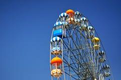 Ferris wheel on blue sky background. Ferris wheel on Transparent blue sky background Stock Images