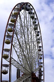 Ferris wheel on the blue sky  background. Ukraine. Kharkiv Royalty Free Stock Images