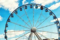 Ferris Wheel and Blue Sky Stock Photo