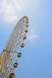 Ferris wheel in blue sky Royalty Free Stock Photos