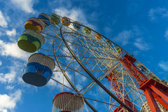 Ferris wheel blue sky clouds Royalty Free Stock Images