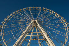 Ferris wheel on blue sky Royalty Free Stock Photo