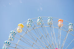 Ferris wheel with blue sky Royalty Free Stock Photo