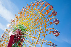 Ferris wheel with on blue sky. Japan Stock Photography