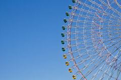 The Ferris wheel with blue sky Stock Photography