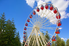 Ferris wheel on blue sky Royalty Free Stock Photos