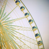 Ferris wheel with blue sky Stock Images