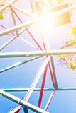 Ferris wheel on blue sky. Royalty Free Stock Images