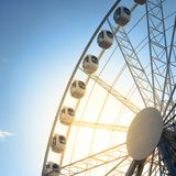 Ferris Wheel on Blue Sky Stock Photography