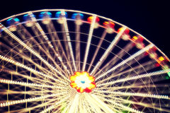 Ferris wheel blurred abstract background. Stock Image