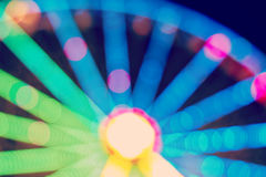 Ferris wheel blurred abstract background. Royalty Free Stock Image