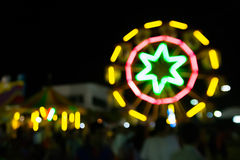 Ferris wheel bokeh background Stock Photo
