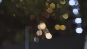 Ferris wheel bokeh lights