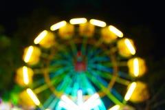 Ferris wheel bokeh wallpaper Stock Image