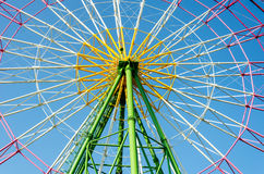 Ferris wheel. Booths with blue sky in japan Royalty Free Stock Images