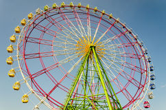 Ferris wheel. Booths with blue sky in japan Stock Photography