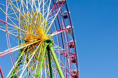Ferris wheel. Booths with blue sky in japan Royalty Free Stock Photos