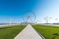 Ferris wheel in the boulevard Royalty Free Stock Image