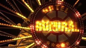 Ferris wheel in bright lights. Golden Sands. Resort in Bulgaria. stock video
