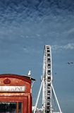 Ferris wheel brighton england amusement. Ferris wheel in brighton, england. amusement at seaside holiday destination Royalty Free Stock Image
