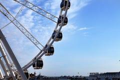 Ferris wheel brighton england amusement. Ferris wheel in brighton, england. amusement at seaside holiday destination Royalty Free Stock Photography