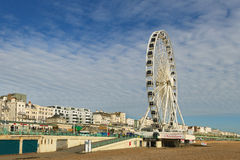 Ferris Wheel at the Brighton pier. Royalty Free Stock Photography